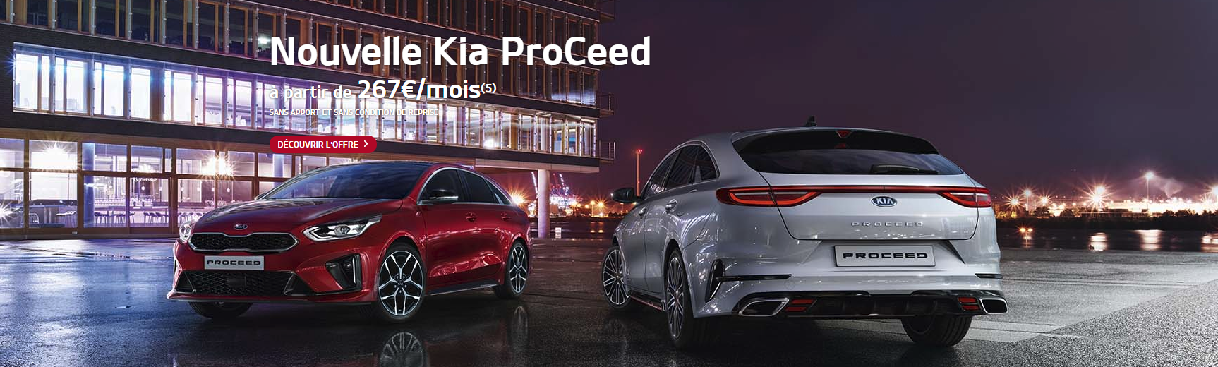 Kia Proceed offre comm